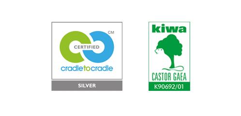KIWA en C2C-zilver certificaat - Stone Paper